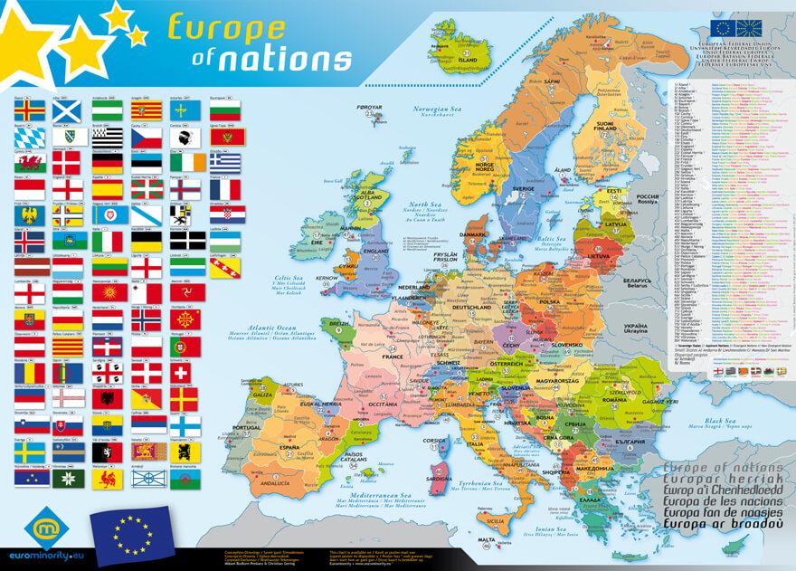 Mapa de la Europa de las naciones